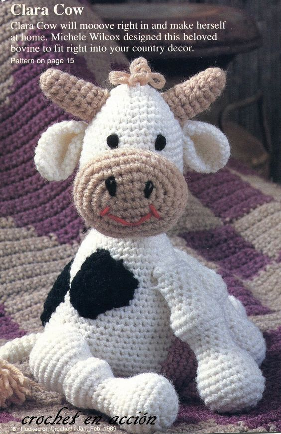 Crochet En Accion: La vaca Clara. Free pattern in english ...