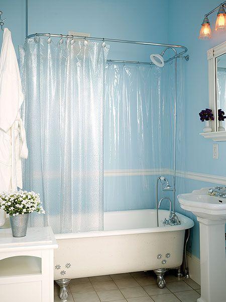 Bathroom In Blue Claw Foot Bathtub Pinterest Not Enough Shabby And Clawfoot Tubs