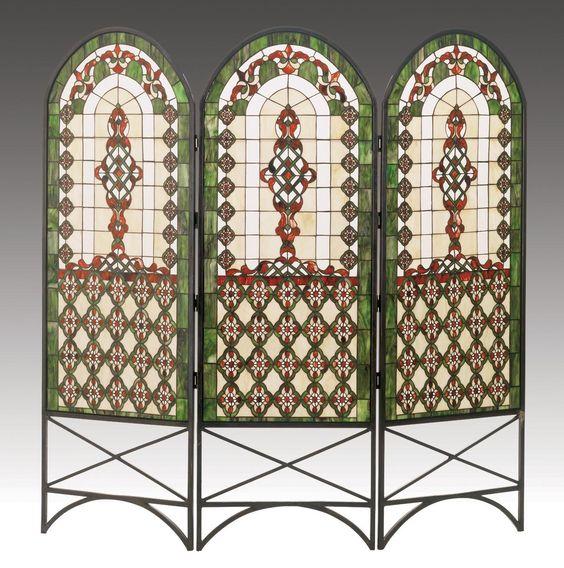 Quatrefoil Classical Room Divider - Glass