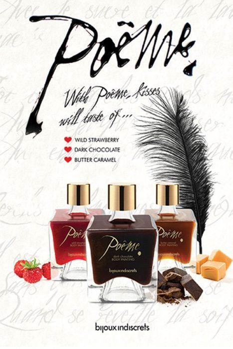 Poême - Peinture sur corps comestible parfum au choix