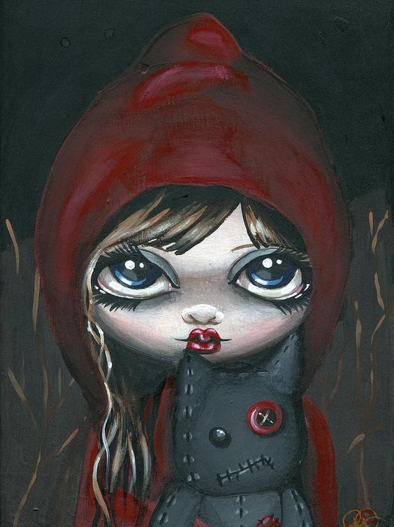 Red Riding Hood Painting by Sour Taffy - Red Riding Hood Fine Art Prints and Posters for Sale