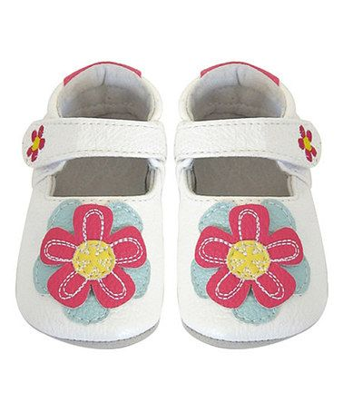 Look what I found on #zulily! White Flower Bootie by Jack & Lily #zulilyfinds