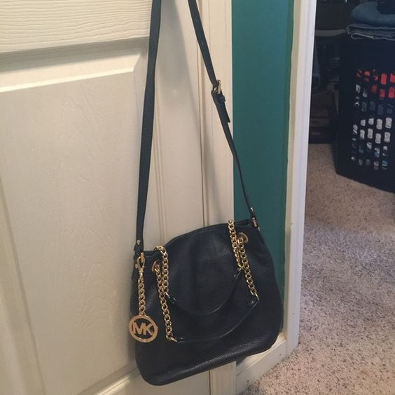 Authentic Michael Kors navy leather crossbody Very soft leather authentic Michael Kors crossbody bag, purchased at Macy's for $198- very good condition! Michael Kors Bags Crossbody Bags