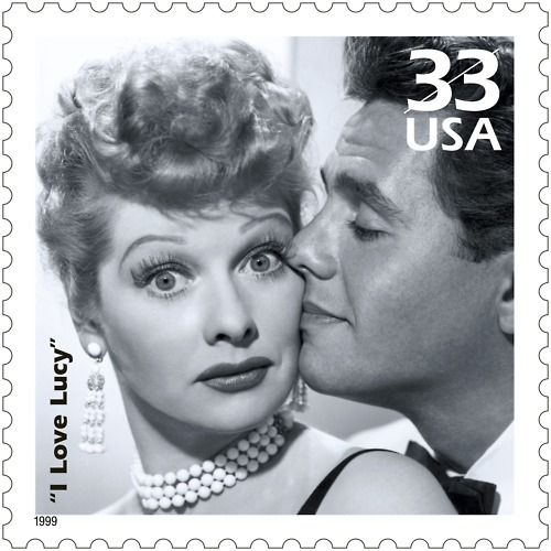 On November 30, 1940 legendary redheaded actress and comedian Lucille Ball married Desi Arnaz in Greenwich, Connecticut. The pair would go on to star in I Love Lucy, to enormous success.  This stamp was issued in 1999 as part of the Celebrate the Century series.