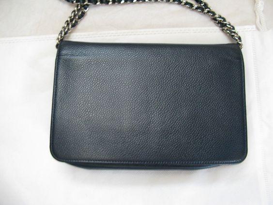 4b10a494febc Authentic Chanel Blue Caviar WOC Wallet On a Chain bag $1399.0 ...