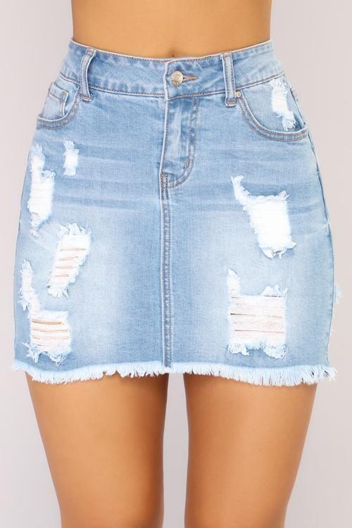 6647197ae8505 Love Me Now Denim Skirt - Light Wash
