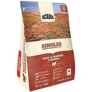 Acana Singles Beef And Pumpkin Formula Dry Dog Food 4 5 Pounds