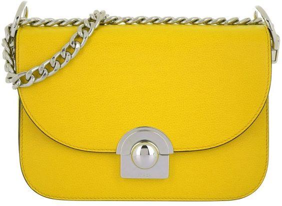 Prada Tasche - Pattina Glacé Calf Crossbody Sole - in gelb - Umhängetasche für Damen