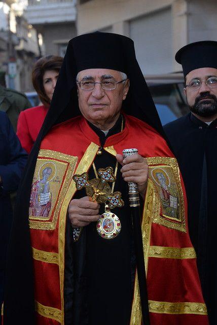 """Homs, Syria  """"Rekonštrukcia kostola nemá zmysel, ak sa ľudia doň nevrátia, nemá zmysel bez """"rekonštrukcie"""" človeka,"""" povedal patriarcha Melchitskej katolíckej cirkvi Youssef Absi  Na pozvanie ACN nedávno navštívil Slovensko Mons. Arbach - arcibiskup zo sýrskeho Homsu. Vianoce mohol sláviť so svojimi veriacimi v obnovenej katedrále aj VĎAKA POMOCI ZO SLOVENSKA"""