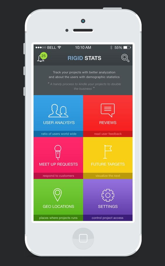 RIGID STATS : A statistics App on App Design Served