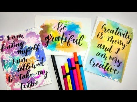 Diy How To Create Unique Water Color Background Using Pens