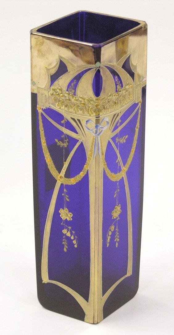 Moser cobalt glass vase | JV: