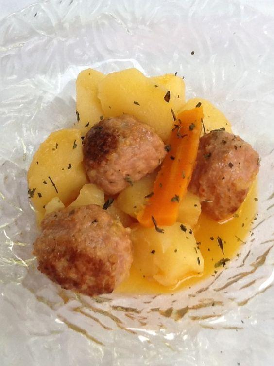 Delicioso guisado de albóndigas caseras by Chef Arolas
