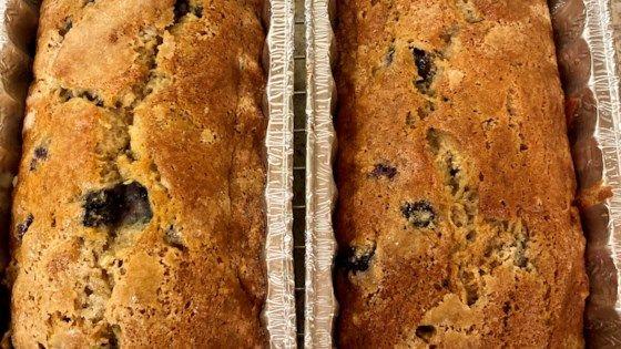 Blueberry Banana Bread Recipe Allrecipes Com Blueberry Banana Bread Banana Bread Recipes Banana Blueberry