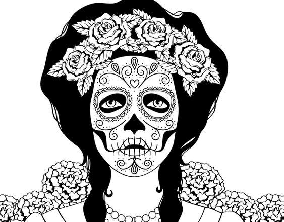 Calaveras Mejicanas, Catrinas Calaveras, Mejicana Para, Mujer Zombie, Mujer Calavera, Zombie Dibujo, De Diámetro Para Colorear, Calavera Mexicana,