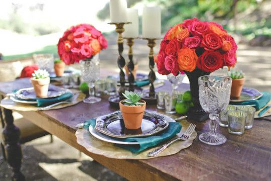 luxe spanish-inspired wedding shoot by rsvp events and floral and allie lindsay photography