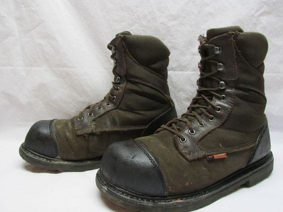 Red Wing 5803 Worx Men&39s 11.5 M Brown Steel Toe Lace Up Work