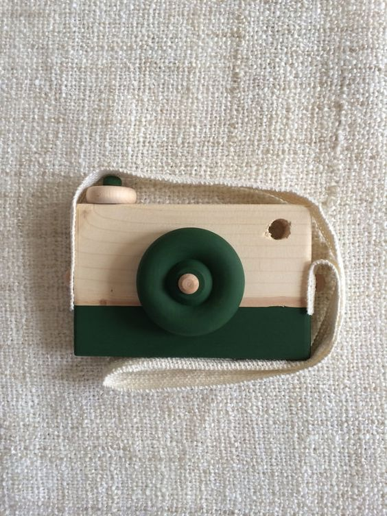 Wooden Toy Camera Wood Camera Handmade Matte by WillowandBass:
