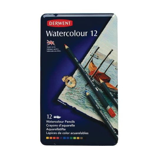 Derwent Watercolor Pencil 12 Color Tin Set Michaels