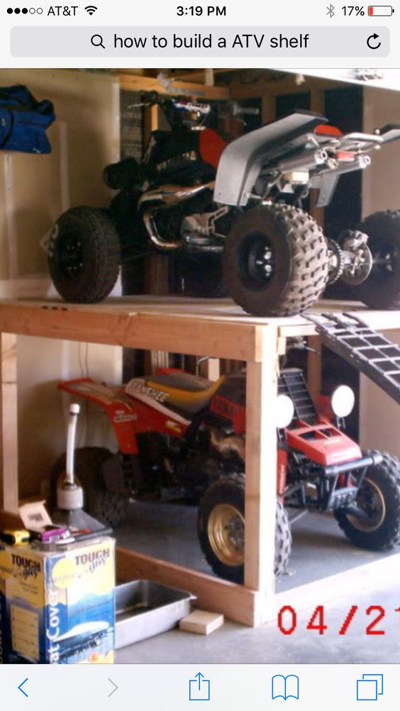 Atv Storage Shelf Garage Organization Pinterest