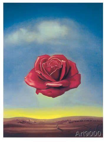 Salvador Dalí - Meditative Rose 1958