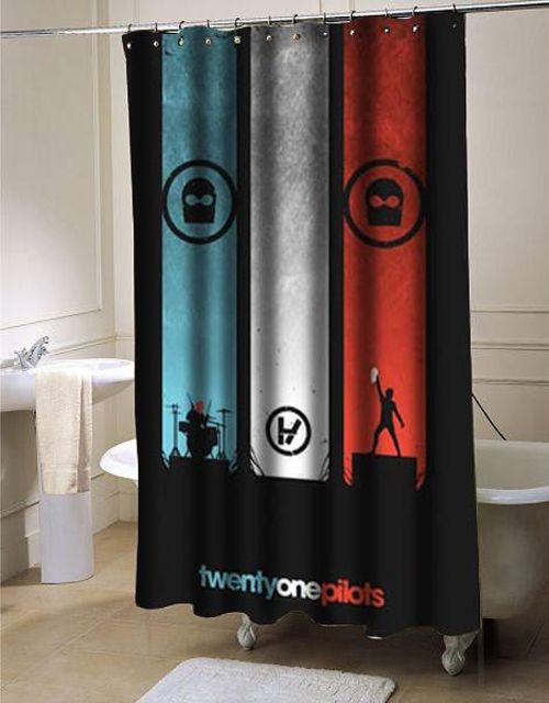 Twenty One Pilots Shower Curtain Customized Design For Home Decor At Personalized Shower Curtain Twenty One