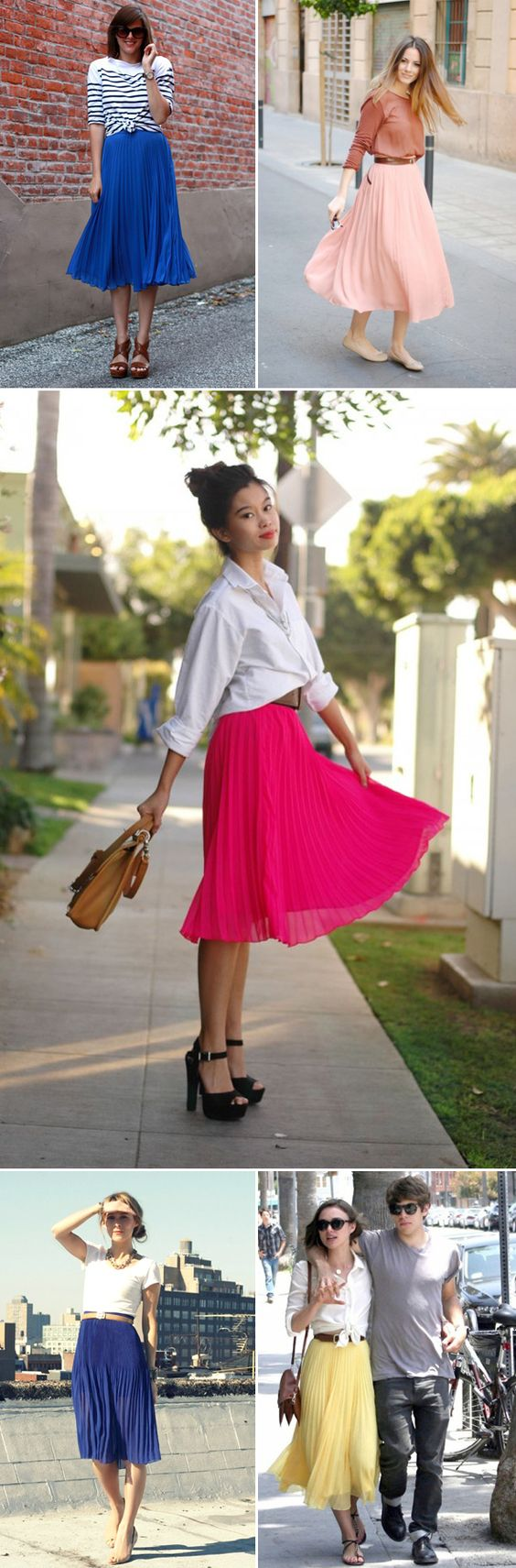 Pleat skirts via The Style Umbrella blog