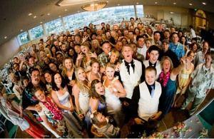 fisheye lense wedding pictures image