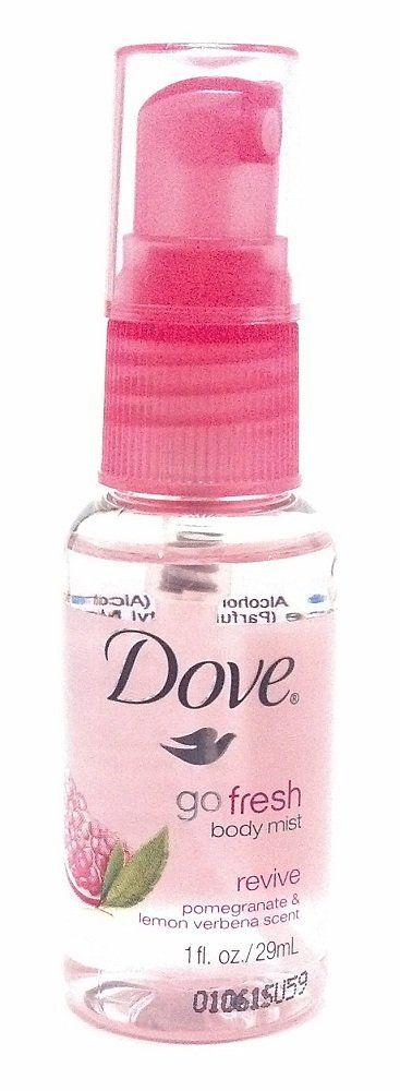 Dove Go Fresh Body Mist Revive Pomegranate and Lemon Verbena Scent Mini Travel or Purse Size Spray 1 Oz. Bulk (6 Each) >>> Hurry! Check out this great item : Travel Perfume and fragrance