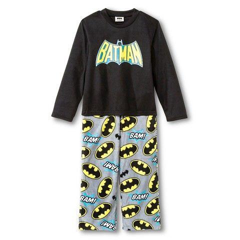 Boys' Batman Pajama Set - Black