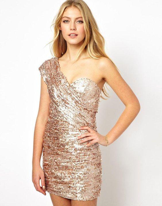 Rare Opulence | Opulence England One Shoulder Sequin Dress at ASOS