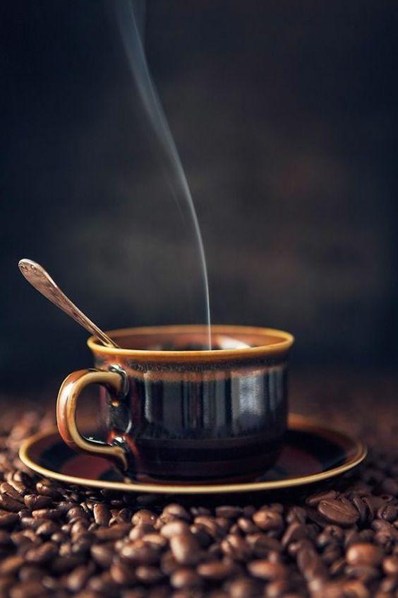 tasse à café originale avec grain de café