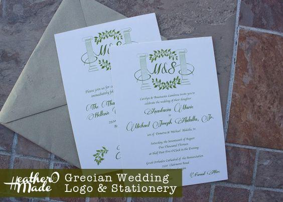 grecian wedding invites