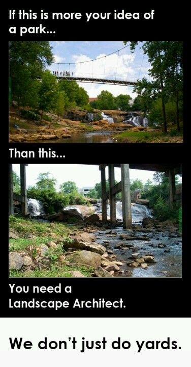 Falls park greenville sc before and after landscape for Architects greenville sc