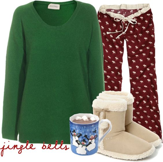 """""""Christmas Jammies ;D"""" by wears-pink-on-wednesdays ❤ liked on Polyvore"""