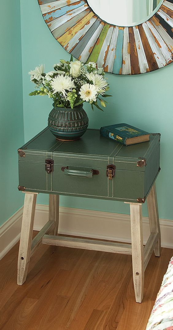 Vintage Suitcase Table I am incredibly into vintage suitcases they can be repurposed for so many things!: