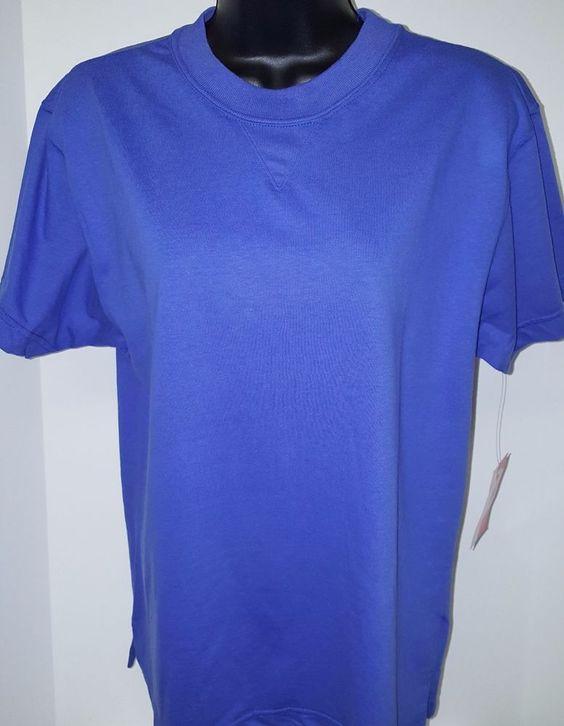 Liz Sport NWT Woman's Blue T-Shirt Size S #LizSport #BasicTee