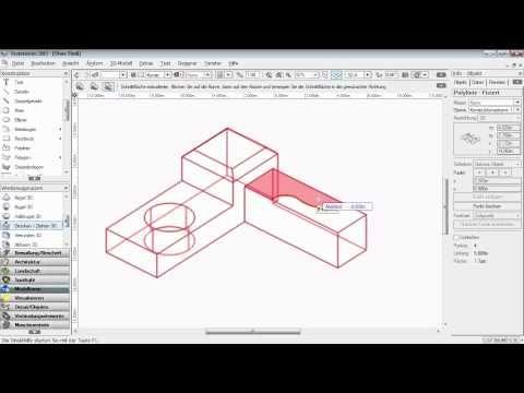 Drücken -- Ziehen 3D [Vectorworks 2012 -- Grundlagen] - YouTube