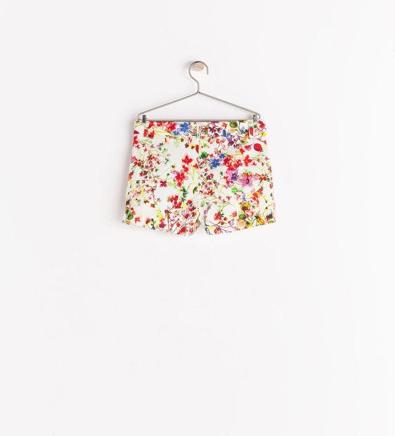 Image 2 of FLORAL PRINT SHORTS from Zara