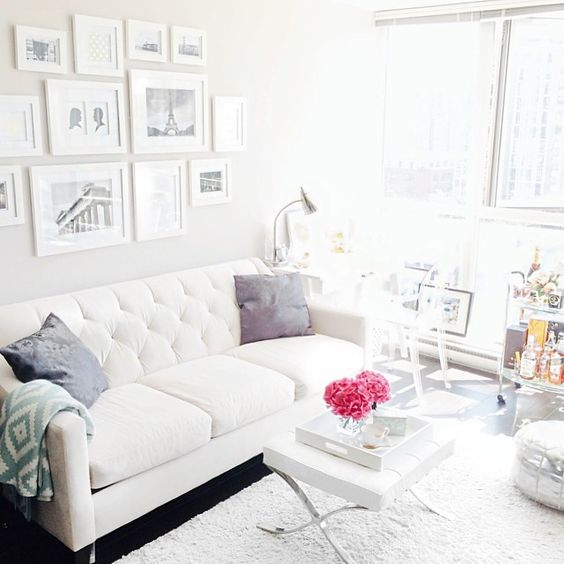 Pretty! Decorating with white!