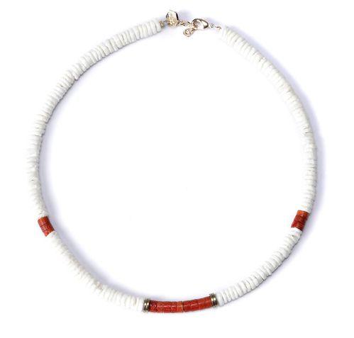 collier ras de cou bleu blanc rouge
