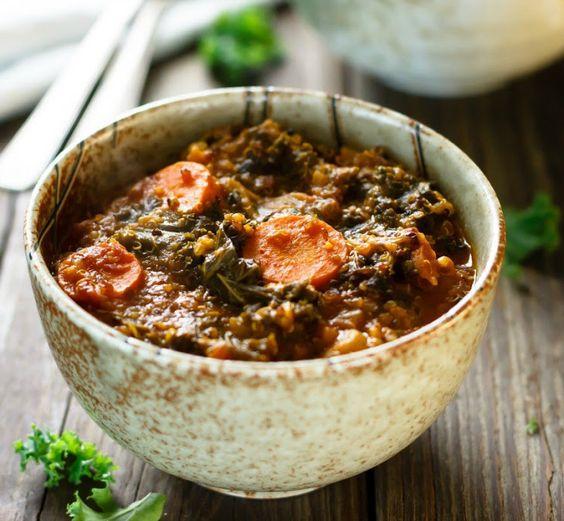 One Pot Kale and Quinoa Soup