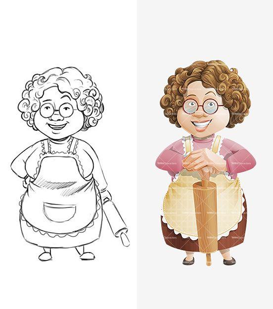 Granny Cartoon Character | Cartoon Female Cartoon And Female Cartoon Characters