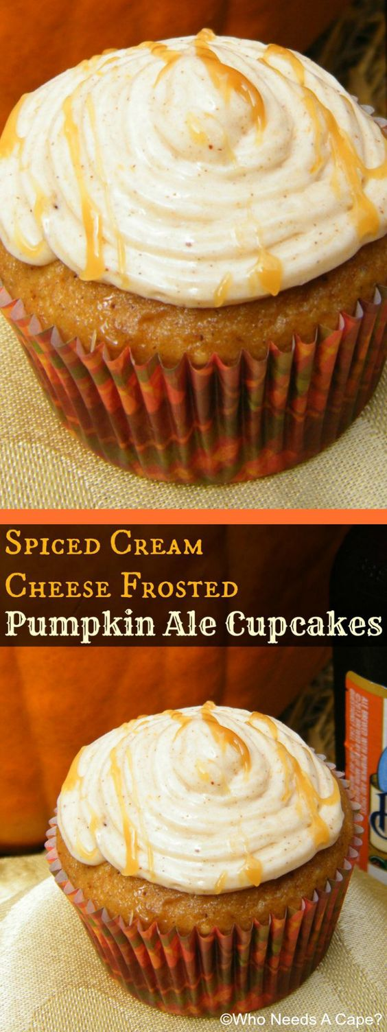 ... Pumpkin Ale Cupcakes as they combine the best of both worlds. They are