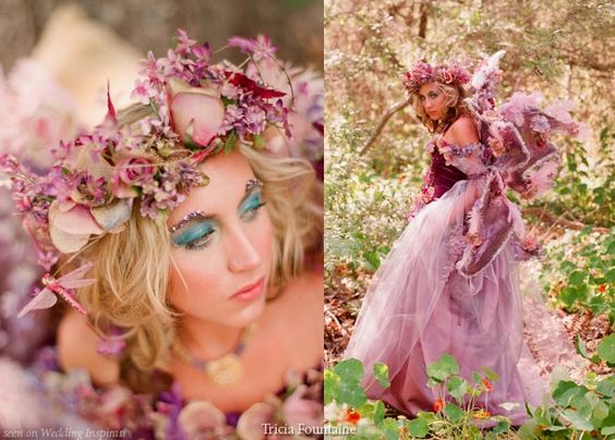 a royal fairy and elf wedding theme woodland creatures