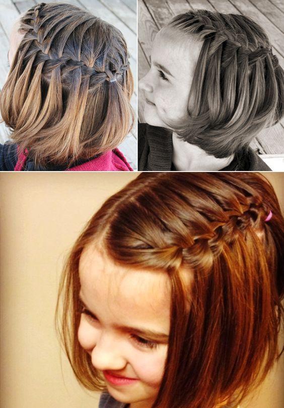 Peinados Faciles Y Divertidos Para La Princesa De La Casa Peinados Para Ninas De Fiesta Peinados Pa Kids Short Hair Styles Hair Styles Short Hair For Kids