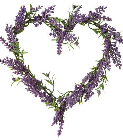 Faux Lavender Heart Wreath