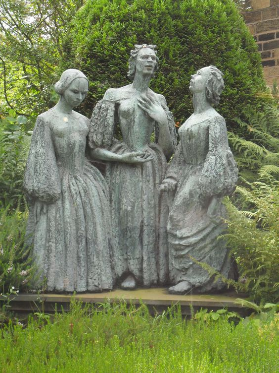 The Bronte sisters in the garden of their home