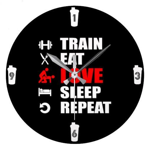 "Relógio de parede / wall black watch ""gymstyle"""