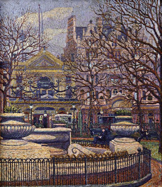 Charles Ginner 'Leicester Square' 1912